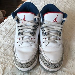 Jordan 3 White Blue Gray